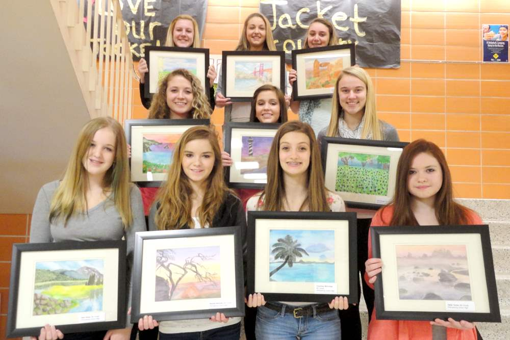 Perrysburg-junior-high-art-students