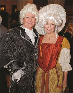 Jack Libbey and Susan Maxwell during the Masquerade Garden Party.