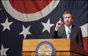 Gov. John Kasich will deliver  his annual State of the State address  in Medina Monday night. He made last year's address in  Lima.
