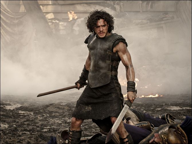 Kit Harington POMPEII Kit Harington in a scene from the movie 'Pompeii.'