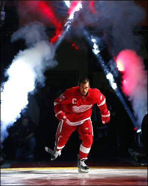 Detroit's Henrik Zetterberg, the Red Wings and Swedish Olympic hockey team captain played once at the Sochi Games before pulling out because of the injury.