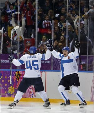 Finland won its second straight bronze medal in men's hockey.
