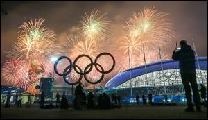 A huge fireworks display caps off the closing ceremony of the Olympic Games in Sochi, Russia. The president of Olympic organizing committee called the success of the 2014 Games a great moment in Russian history.