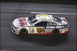 Dale Earnhardt, Jr., races to victory in the NASCAR Sprint Cup Series' first race of the season, the Daytona 500, on Sunday at Daytona International Speedway in Daytona Beach, Fla.