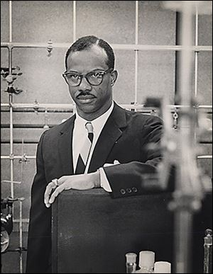 Lancelot C.A. Thompson, in his research lab in 1965, was born in Jamaica. At 24 years of age, he arrived in America and immediately was introduced to racism.