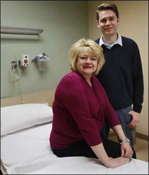 Mary Rabquer received a fecal transplant from her son Brad Rabquer in 2012. The transplant cured the imbalance of C. diff. bacteria in Ms. Rabquer.