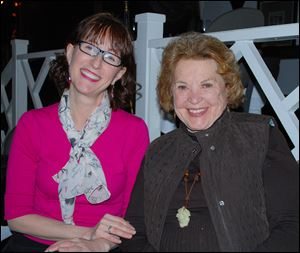 Blade food editor Mary Bilyeu with former Blade food editor Mary Alice Powell.
