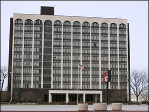 The vacant former Clarion Hotel on Reynolds Road in South Toledo has been called a major impediment to development.