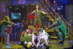 A scene from the 'American Idiot' on its award-winning set.