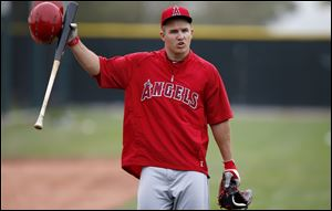 Los Angeles Angels' Mike Trout will become eligible for arbitration after this season and could become a free agent after the 2017 World Series.