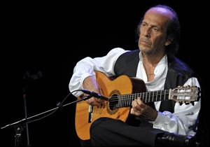 Paco de Lucia, whose real name was Francisco Sanchez Gomez, was recognized as one of the world's leading guitarists, dazzling audiences with his lightning-speed flamenco rhythms and finger work.