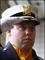 Toledo firefighter Kyle Wiley