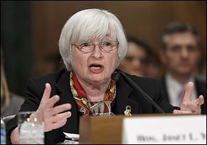 Fed Chairman Janet Yellen said she would reconsider stimulus plans if she decided weather did not explain soft economic results.