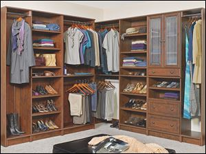 The WoodTrac by Sauder product line of customizable closets is featured on the DIY N