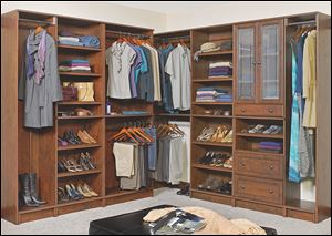 The WoodTrac by Sauder product line of customizable closets is featured on the DIY Network's show 'Rev Run's Renovation.'