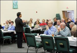 Rev. Eric Law leads a training for a gathering of Methodist ministers during a 'Clergy Day Apart' Feb. 19 at Unity Methodist Church in Northwood.