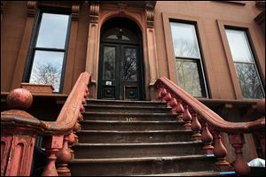 The home stands in the Fort Greene neighborhood of Brooklyn where the director and artist Spike Lee once lived.