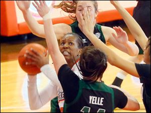 BG's Alexis Rogers looks for a shot.