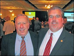 Jack Sculfort, Rotary Foundation Chairman, and Rob Fox, Rotary President