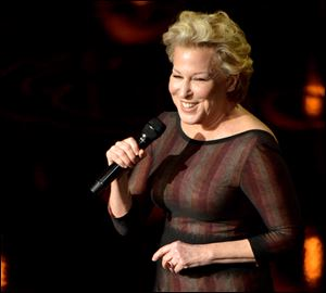In one of the best moments of the Sunday Oscar telecast, Bette Midler  sings 'Wind Beneath My Wings' following the In Memoriam presentation of recently departed entertainment industry figures.