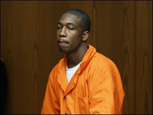 Rishad Williams, 21, appears in Toledo Municipal Court today.