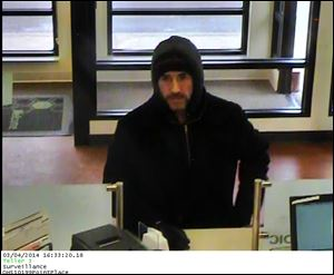 Suspect in robbery of Huntington Bank in Point Place.