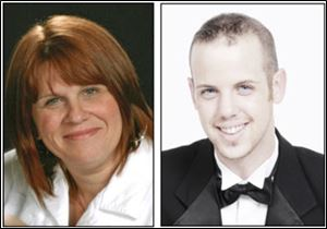 Singers Mary Ann Falk and Jake Wilder will join the Toledo Symphony in a Regional Concert at 3 p.m. Sunday in the Niswonger Performing Arts Center, Bryan.