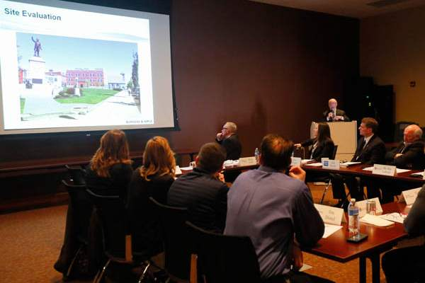 John-Kornbluh-Project-Architect-at-Burgess-Niple-gives-a-presentation