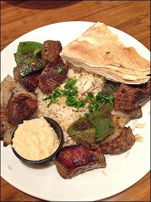 Shish Kebob at Zingo's Mediterranean in Perrysburg.