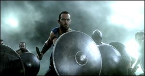 Sullivan Stapleton plays Themistokles, an Athenian politician and naval commander.
