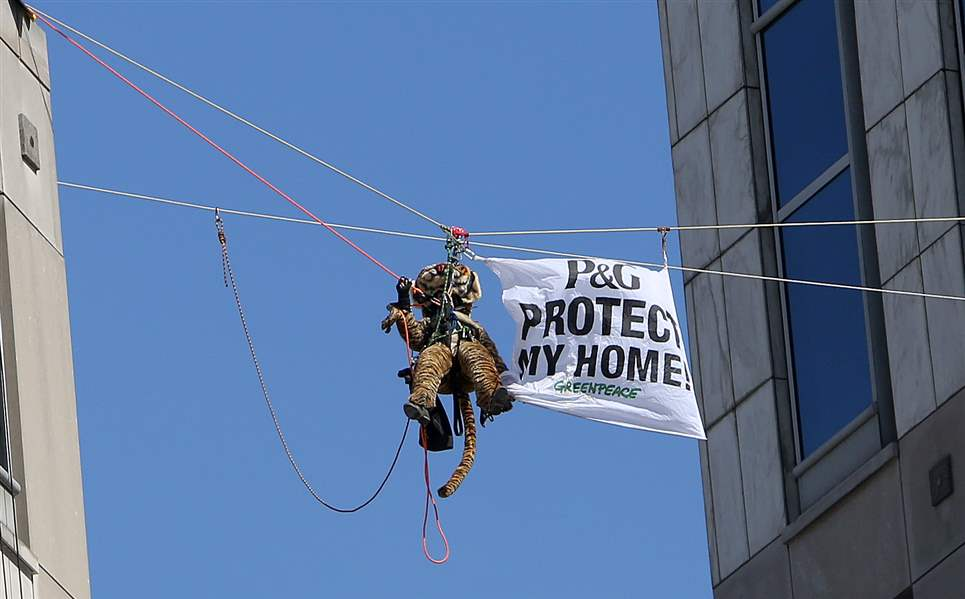 Procter-Gamble-Greenpeace-Protest