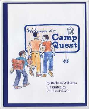Scan of the cover page of the book Welcome to Camp Quest by Barbara Williams. Blade scanned image.