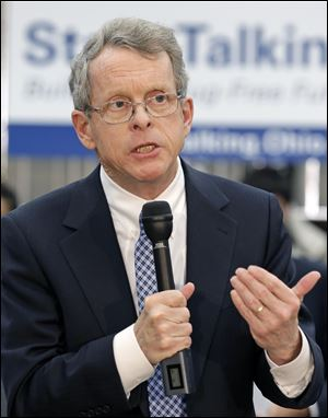 Attorney General Mike DeWine fell ill during a speaking engagement Friday in Cincinnati and was taken to a hospital to be evaluated, his office said.