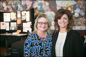 Shelley Roach and Suzette Kanarowski, committee chairmen of the Advertising Club of Toledo's ADDY Awards.