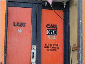 The front door to the Last Call.