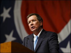 Gov. John Kasich  would help pay for his tax cut by boosting state taxes on tobacco products and on oil and natural-gas drilling.