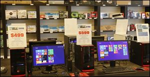 Windows 8 runs on computers for sale. With Microsoft ending support for Windows XP, many users will need to upgrade to a newer operating system — and maybe newer hardware, too.