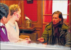 Wes Anderson sets up a scene in 'The Grand Budapest Hotel.'