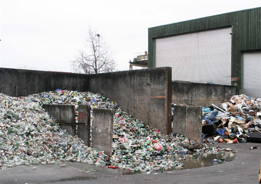 A-glass-recycling-facility