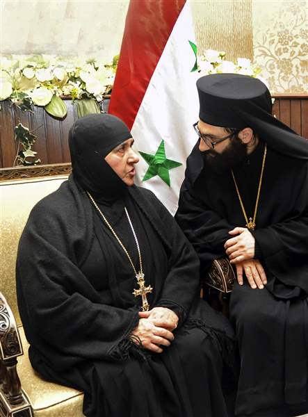 Mideast-Syria-Nuns-Released