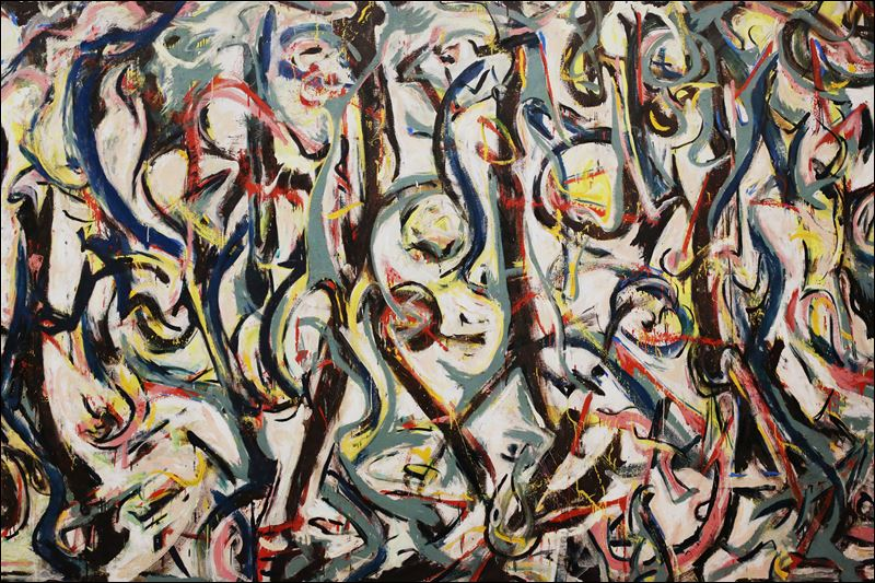 Refurbished jackson pollock masterpiece goes on display for Jackson 5 mural