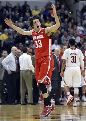 Ohio State's Amedeo Della Valle scored 11 of his 12 points in the second half.