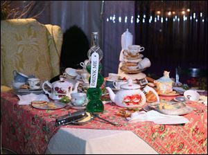 A scene from Alice in Wonderland was set up for visitors at the Once Upon a Vine event at the Toledo Zoo.