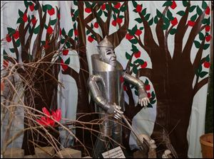 The Wizard of Oz's Tin Woodman was on of several fanciful scenes on display at the Once Upon a Vine event at the Toledo Zoo.