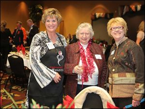 Celebrity Wait Night: (Left to right) Dr. Barbara Kopp Miller, her mother Anita Kopp and Beverly Schmoll, dean of The College of Health Sciences at The University of Toledo.