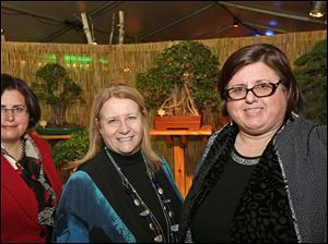 Foundation board member and event committee member Elizabeth Foley, left, committee member Ann Sanford, center, and committee member Susan Conda, right, attended the Once Upon a Vine event at the Toledo Zoo.
