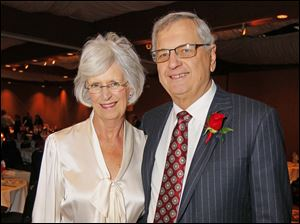 Kathy and Marty Holmes at the Central Catholic Celebrity Wait Night and roasting of Marty Holmes.