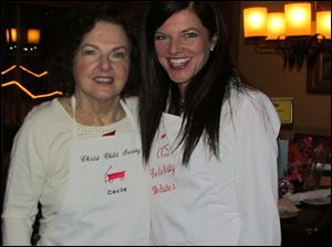 Celebrity waiters Cecile Bennett and, daughter, Laura Swafford.