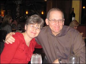 Dinner guests Sue and Rick Stokes.