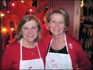 Event chairman Mary Ellen Bernardo with co-chairman Candy Sturtz.